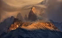 Storm at Fitzroy Massif Argentina  by Mike Reyfman