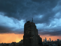 Storm at Sunset over NYC
