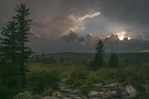 Storm breaking over the hills Dolly Sods WV