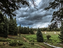 Storm Brewing over Philmont Scout Ranch Cimarron NM