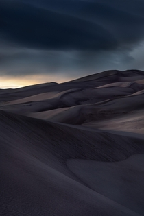 Storm brewing over the Great Sand Dunes if Colorado  X
