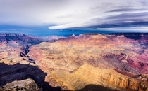 Storm clouds approaching the Grand Canyon