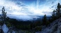 Storm clouds blowing into Tahoe on Saturday morning
