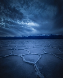 Storm Clouds Moving in Over the Salt Flats of Death Valley CA