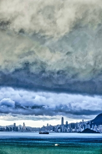 Storm clouds over Hong Kong