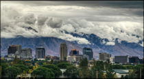 Storm Clouds Over Salt Lake City Utah USA