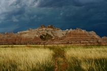 Storm Clouds Over the Badlands - South Dakota