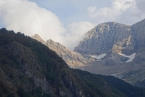 Storm clouds rolling in over the French Pyrenees near Gavarnie