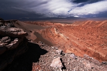 Storm coming in Atacama desert Chili