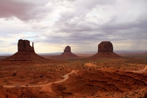 Storm coming in Monument Valley UT