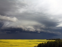 Storm over Eastern Alberta Canada