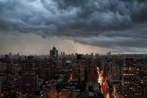 Storm over New York