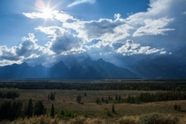 Storm passing over the Grand Tetons Wyoming  x