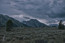 Storm rolling in at the Grand Tetons  OC