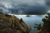 Storm rolling in off the coast of Vancouver Canada