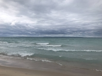 Storm rolling in over Grand Traverse Bay Michigan X