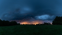 Storm rolling in over our Farm last night Lexington North Carolina  shot panoramic photo
