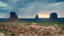 Stormy Dawn in Monument Valley Navajo Tribal Park USA