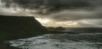 Stormy Day at Giants Causeway Northern Ireland