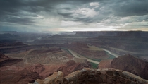Stormy day in Utah Dead Horse Point