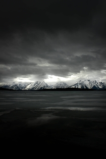 Stormy day on Jackson Lake Wyoming