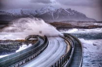 Stormy day on the Atlantic Road  xpost from rNorwayPics