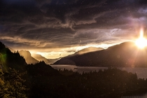 Stormy Sunset in the Columbia River Gorge