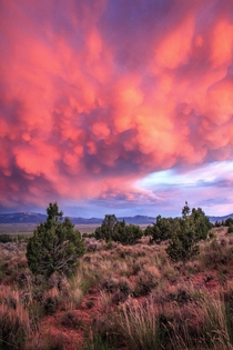Stormy sunset over southern Idaho