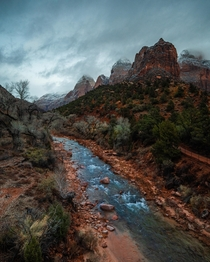 Stormy Zion National Park Utah USA  jonnyhill_uk