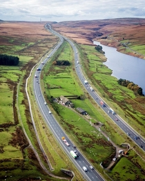 Stott Hall Farm M motorway between Lancashire and Yorkshire Danny Lawson