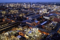Straight out of SimCity - an industrial plant the size of a city BASF Ludwigshafen in Germany