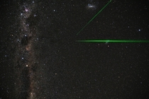 Straight up at the South Pole with lidar lasers Magellanic clouds and the Carinae Nebula
