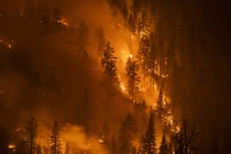 Strange Beauty of Californias Wildfires in Yosemite National Park