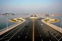 Strange Chinese roundabout And aircraft carrier
