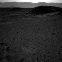 Strange flash of light near the top of the dark hill on the left side of the image captured on Mars by NASAs Curiosity rover on April   NASA says it is either a glinty rock or a vent-hole light leak in the camera housing