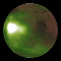 Strange Martian Nightglow Encompassing Entire Surface amp Turning Red Planet To Green