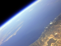 Stratospheric view of Greece and Earths horizon  by Konstantin