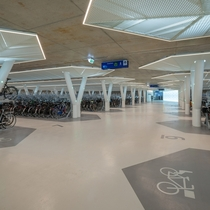 Strawinskylaan underground bicycle parking Amsterdam Netherlands