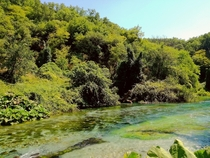 Stream flowing from the Blue Eye Spring in Southern Albania