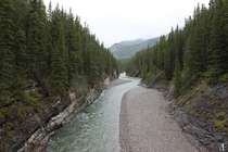 Stream leading into Lake Minnewanka Alberta