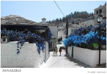 Street in Panagia Thassos Greece
