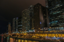 Street level view of Chicago IL