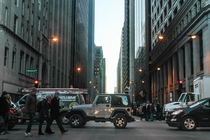 Street level view of Chicago Illinois