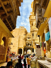 Streets inside Jaisalmer Fort Rajasthan  India