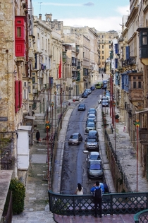 Streets of Valletta Malta Every corner another cathedral Every limestone wall dotted with color