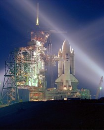 STS- the first shuttle launch on April