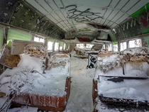 Stumbled on this abandoned bus on top of a mountain in Utah