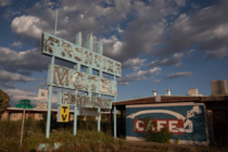 Stumbled on this beauty while driving Route  - Frontier Motel and Cafe