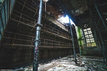 Stumbled upon an abandoned prison that was falling apart Taken by instagram flashinglights