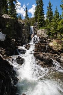 Stumbled upon this perfect waterfall off trail in Breckenridge CO